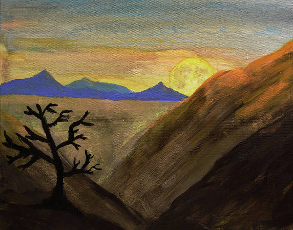 Painting - Desert Moonrise by Chance Kafka