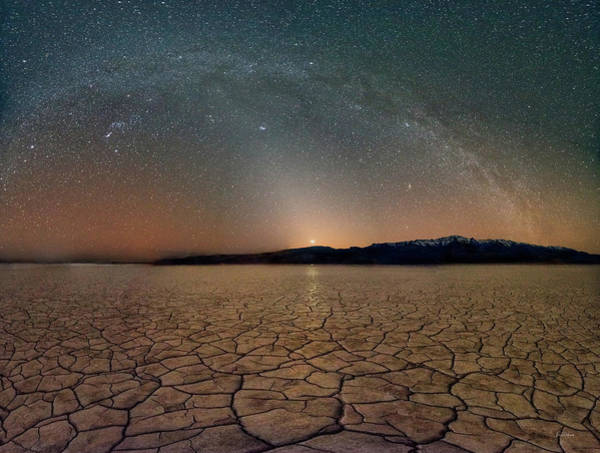 Excellent Wall Art - Photograph - Desert Night by Leland D Howard