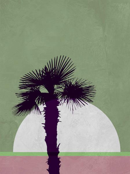 Earth Day Wall Art - Mixed Media - Desert Palm Tree by Naxart Studio