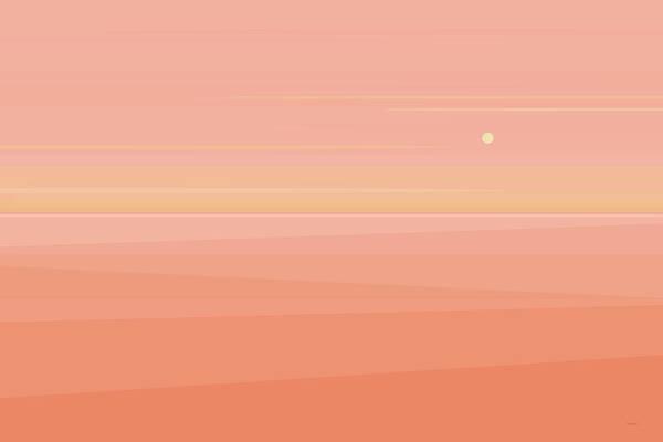 Digital Art - Desert Peach Dawn by Val Arie