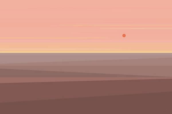 Digital Art - Desert Peach by Val Arie