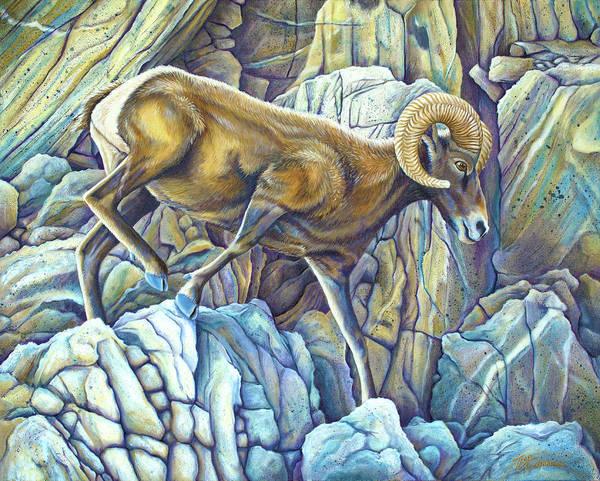 Painting - Desert Ram by Tish Wynne
