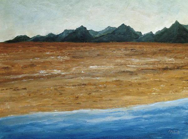 Painting - Desert Rim by Angeles M Pomata