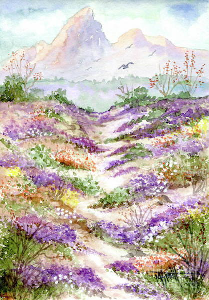 Painting - Desert Sand Verbena by Marilyn Smith