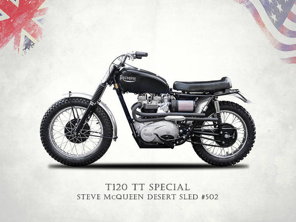 Wall Art - Photograph - Desert Sled Motorcycle Number 502 by Mark Rogan