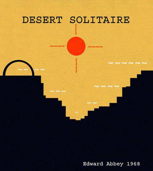 Wall Art - Digital Art - Desert Solitaire Minimalsim Work by David Lee Thompson