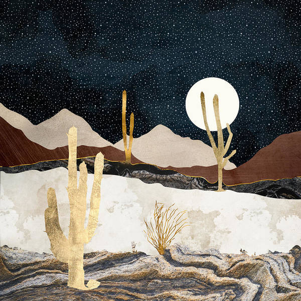 Wall Art - Digital Art - Desert View by Spacefrog Designs