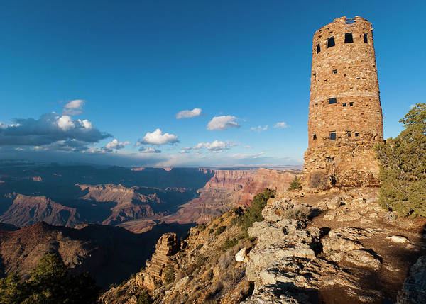 Desert View Tower Photograph - Desert View Watchtower, Grand Canyon by Marc Shandro