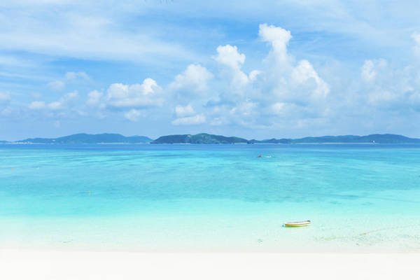 Okinawa Photograph - Deserted Tropical Beach And Islands On by Ippei Naoi