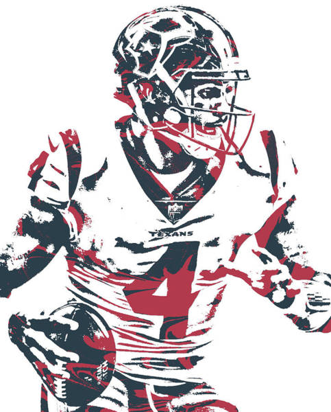 Wall Art - Mixed Media - Deshaun Watson Houston Texans Pixel Art 25 by Joe Hamilton