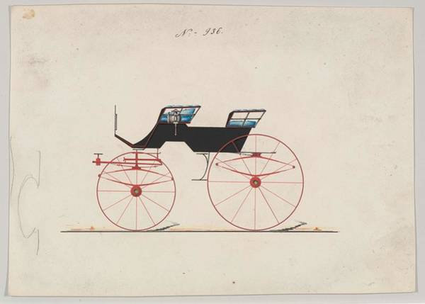 Classic Car Drawings Painting - Design For 4 Seat Phaeton, No Top, No. 936 Brewster  Co. American, New York by MotionAge Designs
