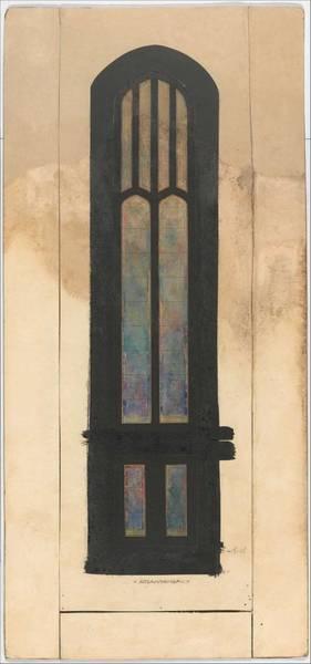 Scandinavian Style Painting - Design For A Single Lancet Window  Louis Comfort Tiffany American, New York 1848-1933 New York by Louis Comfort Tiffany