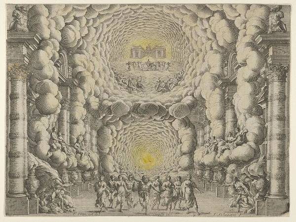 Wall Art - Painting - Design For A Theater Set Created By Giacomo Torelli Da Fano For The Ballet  Israel Silvestre  by Giacomo Torelli da Fano