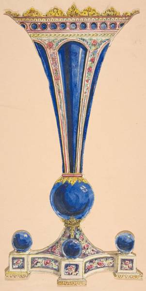 Scandinavian Style Painting - Design For A Vase Anonymous, French, 19th Century by MotionAge Designs