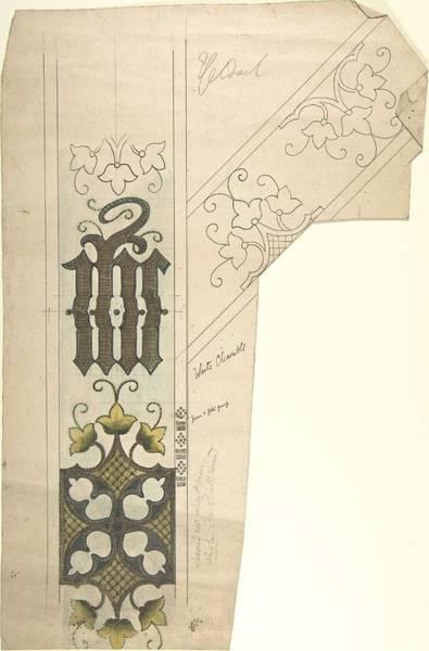 Scandinavian Style Painting - Design For A White Chasuble  Ernest Geldart British, London 1848-1929 by Ernest Geldart