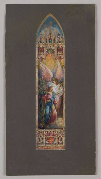 Scandinavian Style Painting - Design For A Window Louis Comfort Tiffany American, New York 1848-1933 New York by Louis Comfort Tiffany