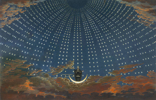 Wall Art - Relief - Design For The Magic Flute - The Hall Of Stars In The Palace Of The Queen Of The Night by Karl Friedrich Schinkel