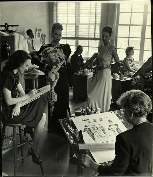 Neiman Photograph - Designers At Neiman Marcus Store In by Nina Leen