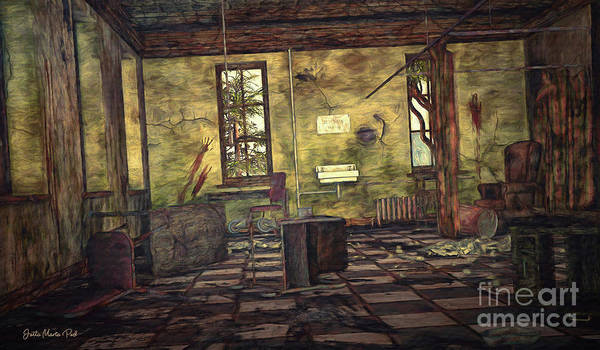 Wall Art - Digital Art - Desolate Place by Jutta Maria Pusl