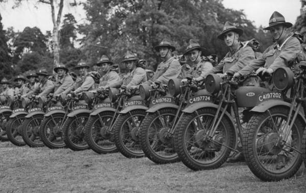 Stationary Photograph - Despatch Riders by Reg Speller