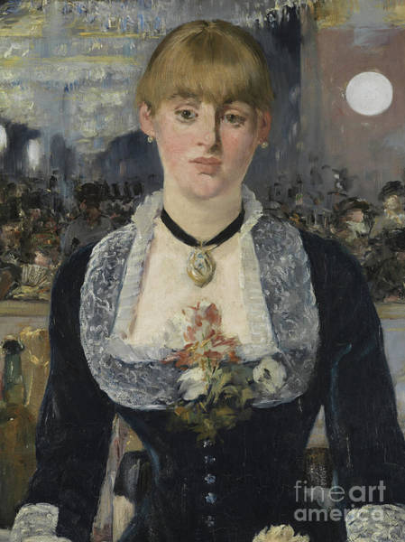 Wall Art - Painting - Detail From A Bar At The Folies-bergere by Edouard Manet