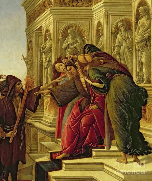 Wall Art - Painting - Detail From Calumny Of Apelles by Sandro Botticelli