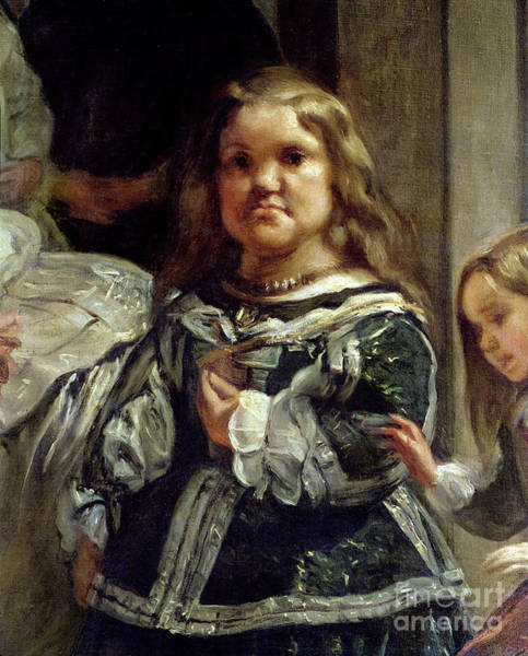 Lady In Waiting Painting - Detail From Las Meninas Or The Family Of Philip Iv by Diego Rodriguez De Silva Y Velazquez