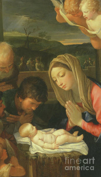 Wall Art - Painting - Detail From The Adoration Of The Shepherds by Guido Reni