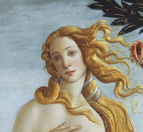 Wall Art - Painting - Detail From The Birth Of Venus, Circa 1485 by Sandro Botticelli