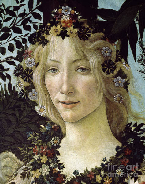 Wall Art - Painting - Detail From The Primavera, Circa 1478, Tempera On Panel by Sandro Botticelli