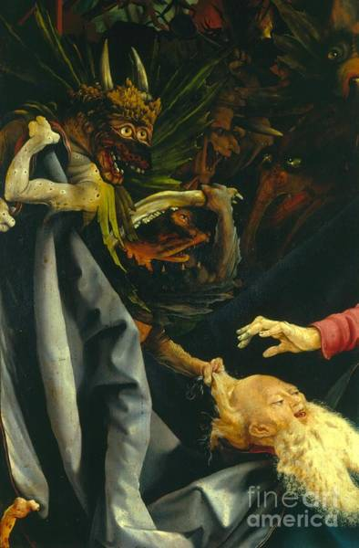 Wall Art - Painting - Detail From The Temptation Of St Anthony From The Isenheim Altarpiece by Matthias Grunewald