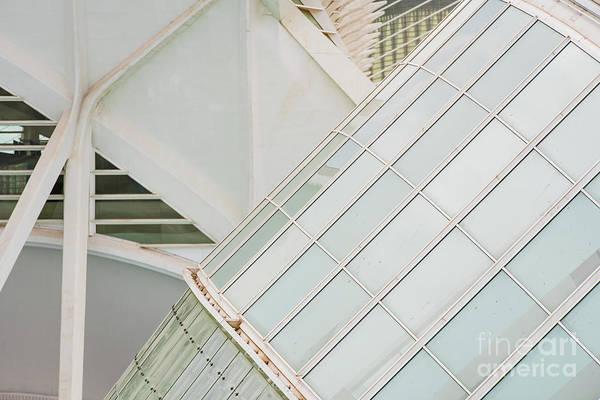 Photograph - Detail Of A Futuristic Public Building. by Joaquin Corbalan