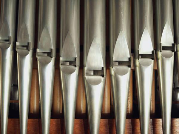 Pipe Organ Photograph - Detail Of A Pipe Organ by Hudzilla
