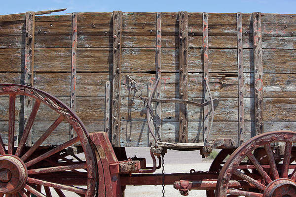 Wagon Wheel Photograph - Detail Of A Twenty Mule Team Wagon by Brent Winebrenner