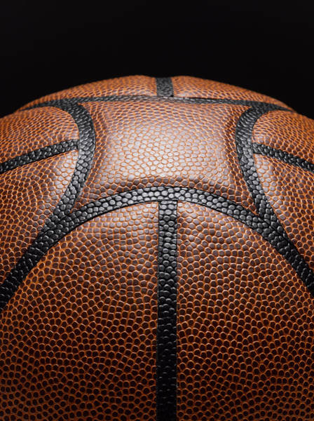 Team Sport Photograph - Detail Of Basketball by Jeffrey Coolidge