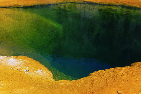 Sulphur Photograph - Detail Of Colourful Water Mineral by Mint Images - Paul Edmondson