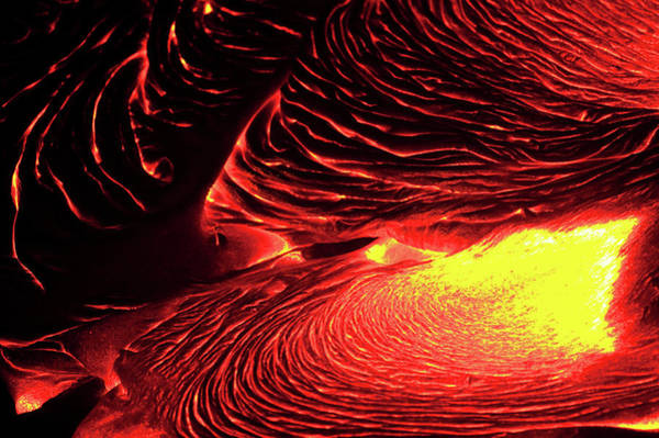 Motion Photograph - Detail Of Flowing Lava, Hawaii by Mint Images/ Art Wolfe