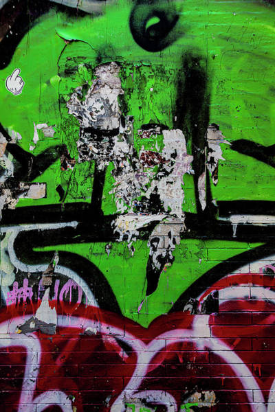 Photograph - Detail Of Grafitti On Brick Wall by Robert Ullmann