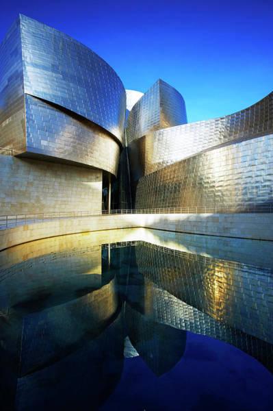 Bilbao Photograph - Detail Of Guggenheim by Allan Baxter