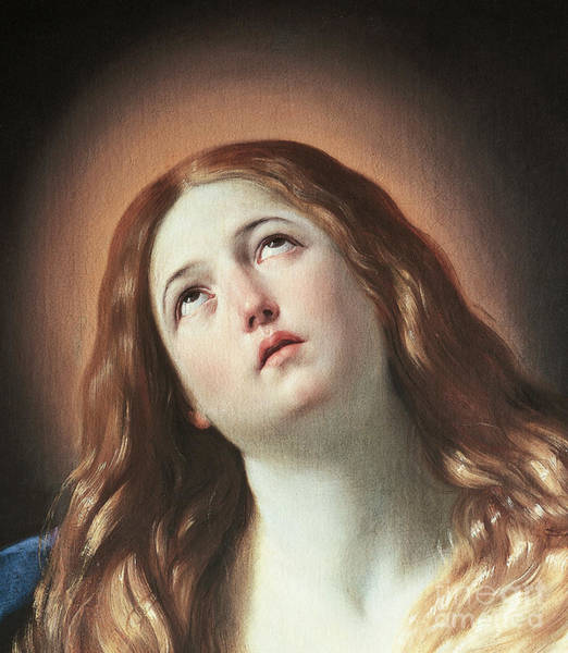 Wall Art - Painting - Detail Of Magdalene, By Guido Reni  by Guido Reni
