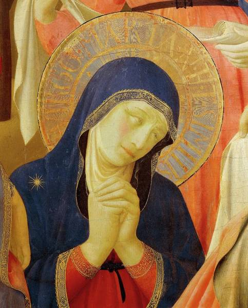 Wall Art - Painting - Detail Of Mary From Deposition From Cross Or Altarpiece Of Holy Trinity By Fra Angelico by Fra Angelico