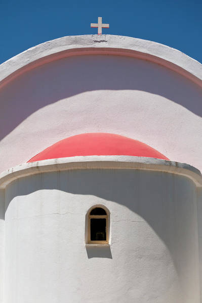 Wall Art - Photograph - Detail Of Small Church Between Limnes by Ian Cumming