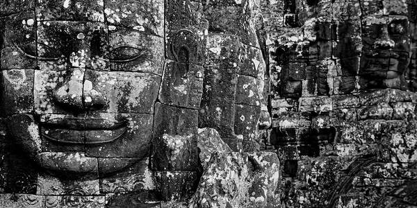 Wall Art - Photograph - Detail Of Smilinle Face Carved by Panoramic Images