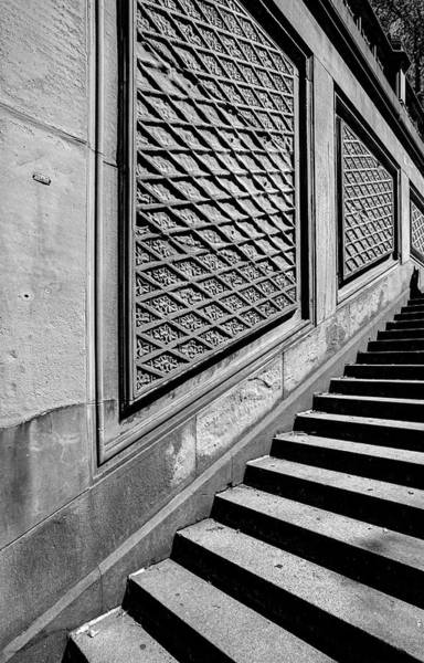 Photograph - Detail Of Stairs Bethesda Fountain Central Park Nyc by Robert Ullmann