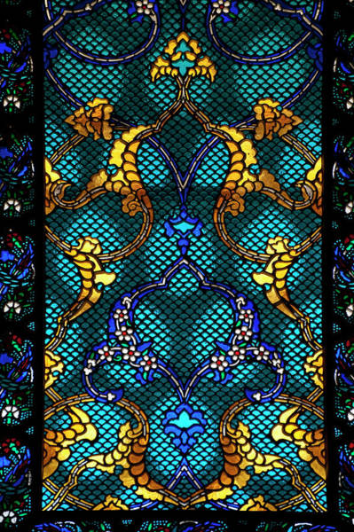 Photograph - Detail Of Stanied Glass Window In Room by Ian Cumming