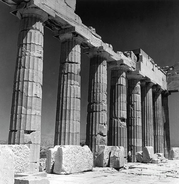 Wall Art - Photograph - Detail Of The Colonnade Of The Parthenon, Acropolis, Athens by Greek School