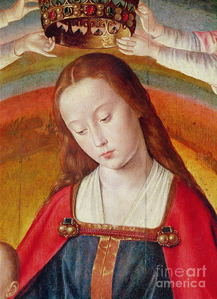 Wall Art - Painting - Detail Of The Coronation Of The Virgin, From The Bourbon Altarpiece by Master Of Moulins
