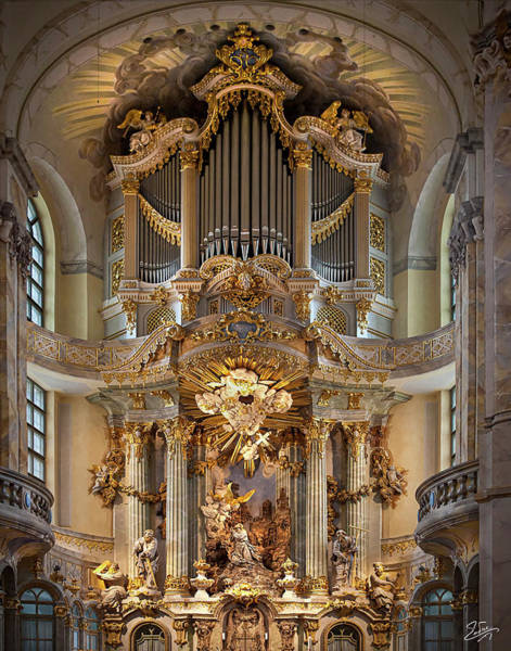 Photograph - Detail Of The Dresden Cathedral Altar by Endre Balogh