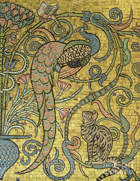 Wall Art - Relief - Detail Of The Gold Mosaic Frieze by Walter Crane