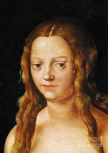 Wall Art - Painting - Detail Of The Head Of Eve By Lucas Cranach The Elder by Lucas The Elder Cranach